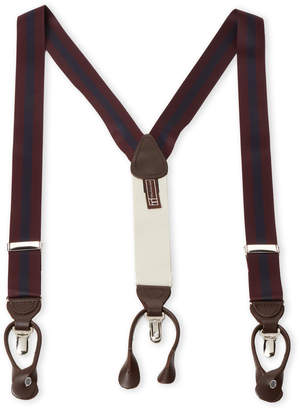 Trafalgar Burgundy & Navy Clip-On Suspenders