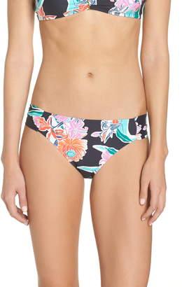 Trina Turk Shirred Floral Bikini Bottoms