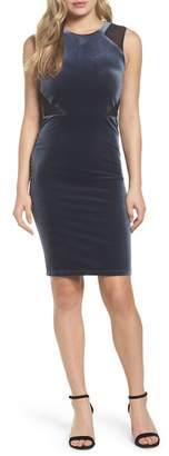 French Connection Viven Velvet Body-Con Dress