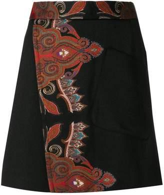 Etro A-line wrap skirt