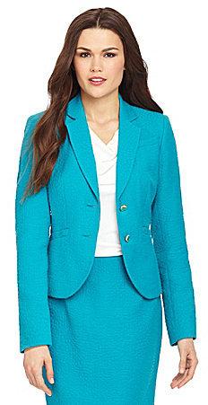 Calvin Klein 2-Button Jacquard Jacket