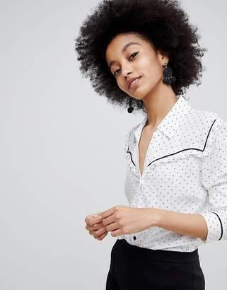 Miss Selfridge Polka Dot Western Shirt