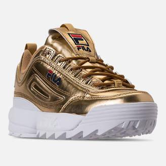Fila Women's Disruptor II Premium Metallic Casual Shoes