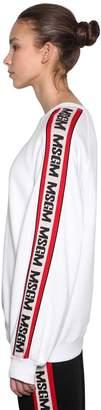 MSGM Oversized Logo Bands Cotton Sweatshirt