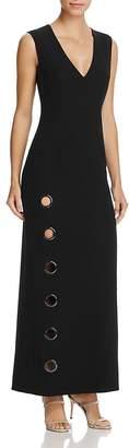 Elie Tahari Ann Ring Cutout Maxi Dress