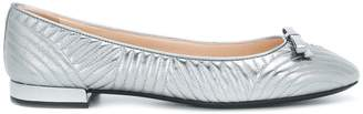 Prada quilted ballerina shoes
