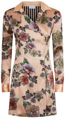 La Perla Maps In Bloom Floral Print Bi-Stretch Silk Short Dress