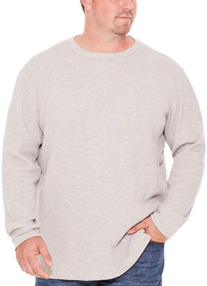 Co THE FOUNDRY SUPPLY The Foundry Big & Tall Supply Long Sleeve Waffle Crew Neck T-Shirt-Big and Tall