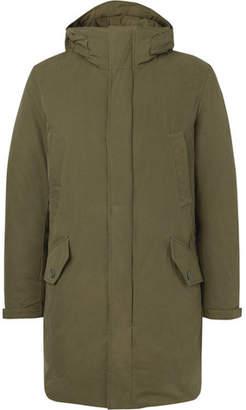 Incotex Cotton-Blend Twill Hooded Down Parka