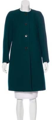 Dries Van Noten Collarless Wool Coat