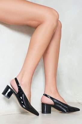 Nasty Gal Cut Back Patent Slingback Heel