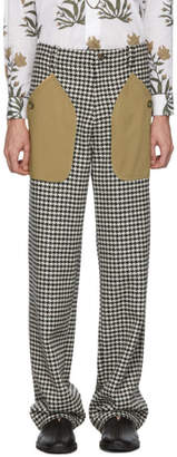 Loewe Black and White Houndstooth Patch Pocket Trousers