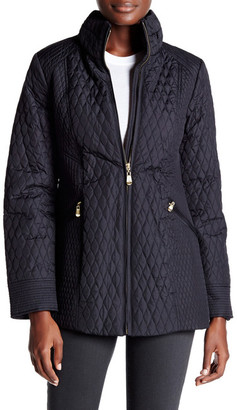 Ellen Tracy Quilted Mock Neck Jacket $320 thestylecure.com
