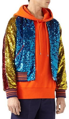 Gucci Sequined Bomber Jacket $6,250 thestylecure.com
