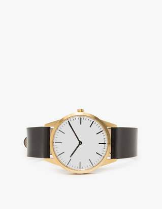 Uniform Wares C35 PVD Gold Shell Cordovan Strap Watch