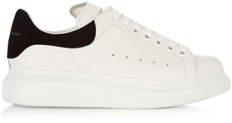 ALEXANDER MCQUEEN Raised-sole low-top leather trainers $413 thestylecure.com