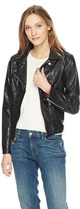 Tommy Hilfiger Women's Faux Leather Moto Jacket