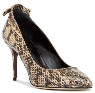 Oscar de la Renta Kristina 85MM Genuine Snake Pointed Toe Pump