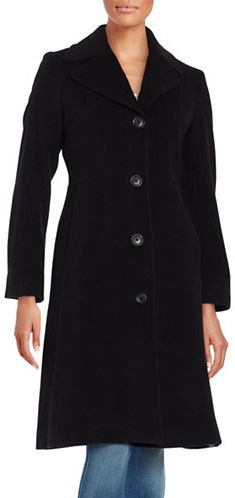 Anne KleinAnne Klein Wool-Blend Walking Coat