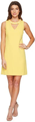 Christin Michaels - Gisela Sleeveless Keyhole Dress with Pearl Detail Women's Dress $149 thestylecure.com