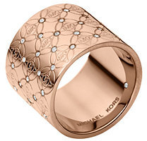 Michael Kors MK Pave Monogram Ring $125 thestylecure.com