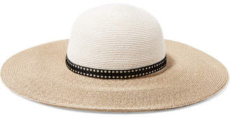 Eugenia Kim Honey Two-tone Woven Faux Raffia Sunhat - Beige