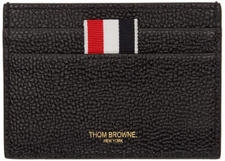 Thom Browne Black Hector Single Card Holder