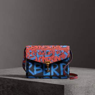 Burberry Small Graffiti Print Leather Crossbody Bag