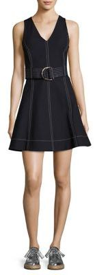 Diane von Furstenberg Belted Fit-&-Flare Dress