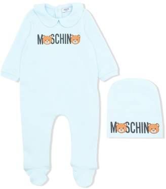 Moschino Kids bear logo print pajamas