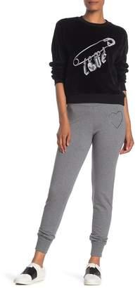 Love Moschino Drawstring Studded Logo Sweatpants