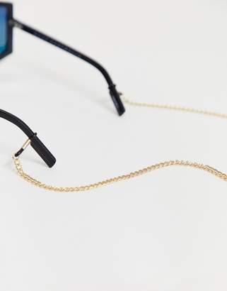 Asos Design DESIGN sunglasses chain in gold tone