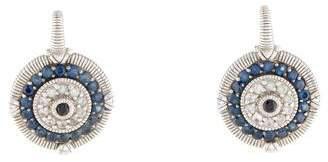 Judith Ripka Sapphire Evil Eye Earrings