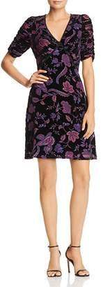 Rebecca Minkoff Arlette Botanical Burnout Velvet Dress