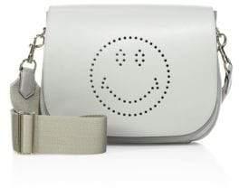 Anya Hindmarch Smiley Ebury Leather Satchel