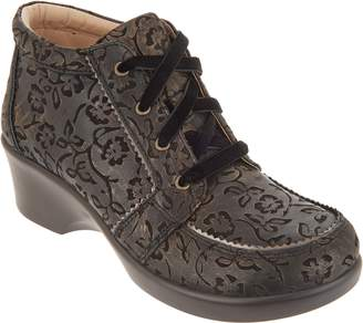 Alegria Leather Lace-Up Booties - Elsa