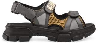 Gucci Leather and mesh sandal