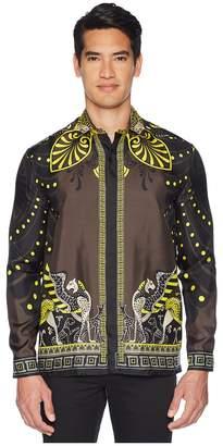 Versace Shpinx/Horse Print Silk Shirt