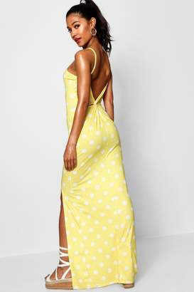 boohoo Knot Cross Back Jersey Maxi Dress