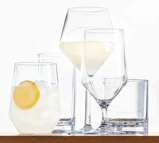 Pottery Barn Happy Hour Acrylic Goblet, Set of 4 - Clear