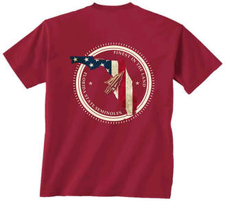 New World Graphics Men Florida State Seminoles Flag Fill T-Shirt