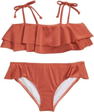 Billabong Shine Ruffle Two-Piece Swimsuit