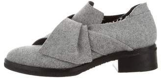 Proenza Schouler Felt Bow Oxfords