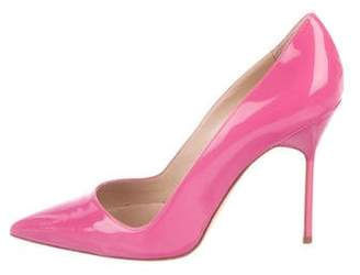 Manolo Blahnik Patent Pointed-Toe Pumps