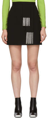 Christopher Kane Black Crystal Crepe Miniskirt