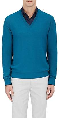Caruso MEN'S THERMAL-KNIT WOOL SWEATER