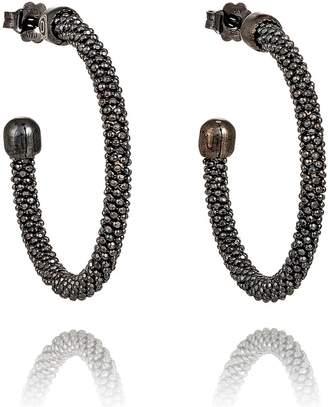 Durrah Jewelry - Graphite Spring Hoop Earrings