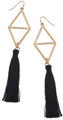 Canvas Colour Palette Triangle Tassel Drop Earrings