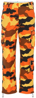 Off-White Off White Camouflage cotton wide-leg pants