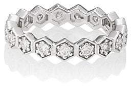 Sara Weinstock Women's Isadora Hexagonal Eternity Ring - Silver